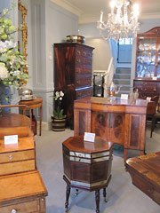 A selection of the antique furniture, english silver and porcelain available at our antiques gallery
