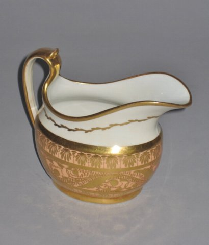 COALPORT PORCELAIN CREAM JUG. CIRCA 1815 - Click to enlarge and for full details.