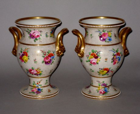 Pair of SPODE Vases. Circa 1815. - Click to enlarge and for full details.