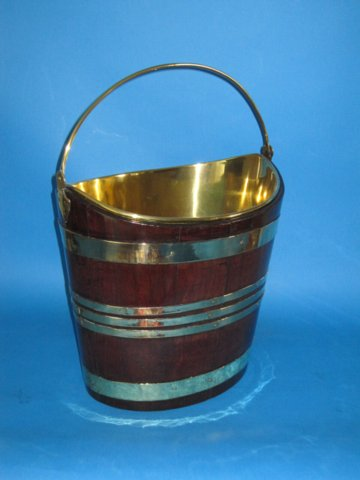 George III Mahogany & Brass Bucket, circa 1790. - Click to enlarge and for full details.