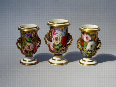 Garniture Vases, circa 1815. - Click to enlarge and for full details.