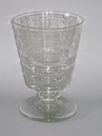 A RARE MASSIVE GLASS RUMMER,GEORGE IV CIRCA 1825 - Click to enlarge and for full details.