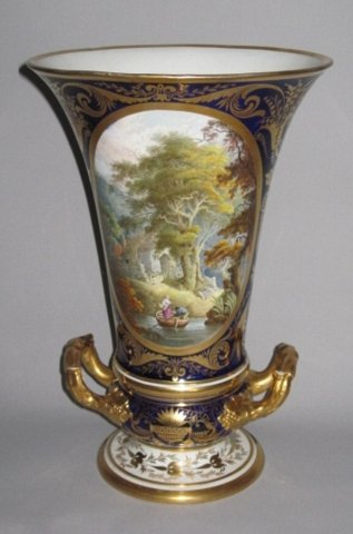 DERBY Porcelain Vase, Circa 1815. - Click to enlarge and for full details.