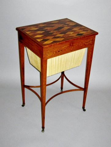 GEORGE III PARQUETRY SPECIMEN WOOD WORK TABLE. CIRCA 1800 - Click to enlarge and for full details.