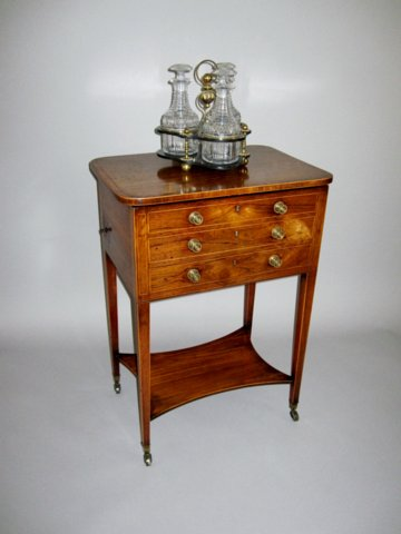 GEORGE III ROSEWOOD WORK/WRITING TABLE.CIRCA 1800 - Click to enlarge and for full details.