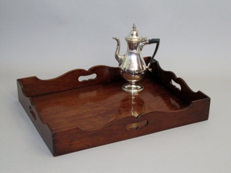 GEORGE III MAHOGANY TRAY, CIRCA 1775 - Click to enlarge and for full details.