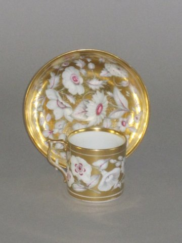 DERBY PORCELAIN CAN & SAUCER, CIRCA 1815. - Click to enlarge and for full details.