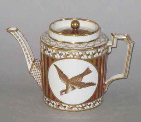COALPORT PORCELAIN TEA POT. CIRCA 1810 - Click to enlarge and for full details.