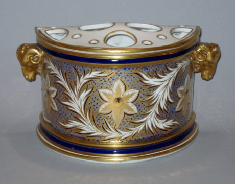 18TH CENTURY DERBY BOUGH POT. CIRCA 1795. - Click to enlarge and for full details.