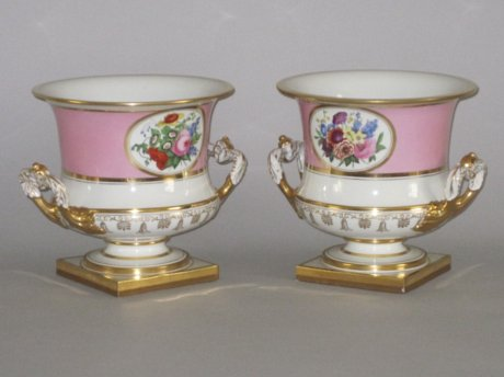 PAIR FLIGHT BARR & BARR WINE COOLERS/ICE PAILS. CIRCA 1820 - Click to enlarge and for full details.