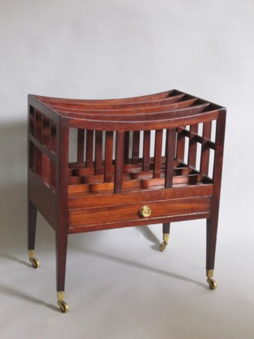 MAHOGANY CANTERBURY, CIRCA 1800 - Click to enlarge and for full details.