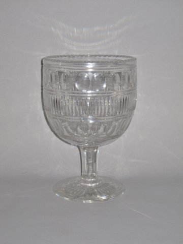MID 19TH CENTURY LARGE CUT GLASS GOBLET - Click to enlarge and for full details.