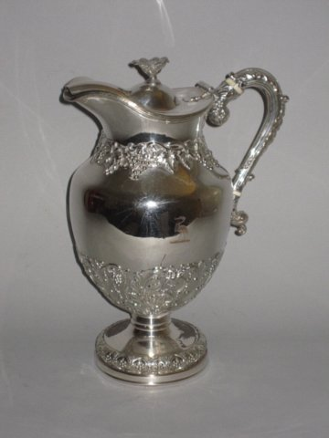 OLD SHEFFIELD PLATE SILVER WINE JUG/EWER. CIRCA 1825  - Click to enlarge and for full details.
