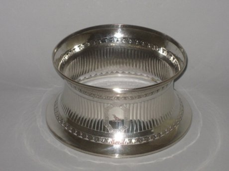 OLD SHEFFIELD PLATE SILVER DISH RING. CIRCA 1785 - Click to enlarge and for full details.