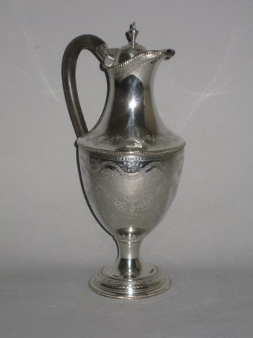 OLD SHEFFIELD PLATE SILVER EWER. CIRCA 1775 - Click to enlarge and for full details.