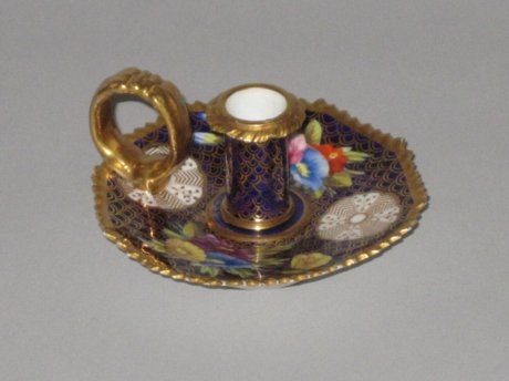 RARE MINIATURE SPODE CHAMBERSTICK. PATTERN . - Click to enlarge and for full details.