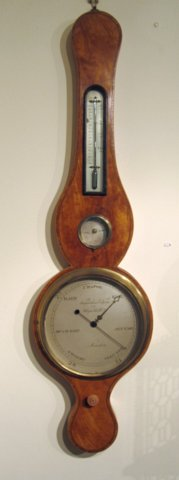 Georgian Satinwood Barometer, circa 1790. - Click to enlarge and for full details.