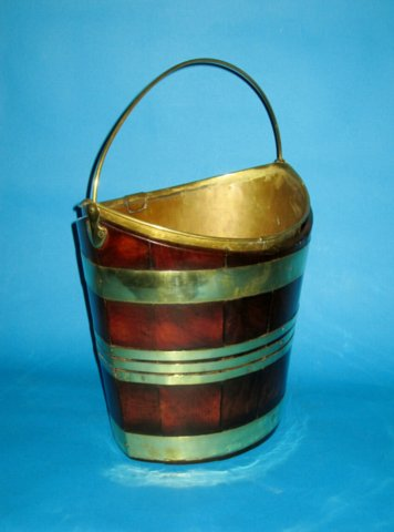 Mahogany & Brass bound Oval Bucket, circa 1790 - Click to enlarge and for full details.
