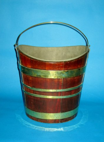 Mahogany & brass bound Bucket, circa 1800 - Click to enlarge and for full details.