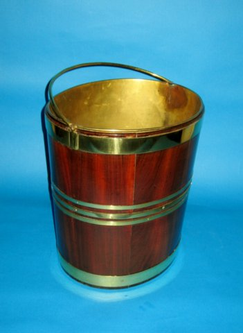 Mahogany & brass bound oval Bucket, circa 1800 - Click to enlarge and for full details.