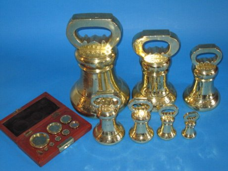 Set of Imperial Bell Metal Weights for WEST SUSSEX, c.1835 - Click to enlarge and for full details.
