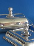 Pair of Old Sheffield Plate silver Entree dishes & covers, circa 1815 - Click to enlarge and for full details.